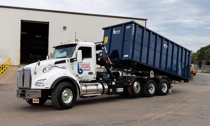 Roll-off container from Brenner Recycling.