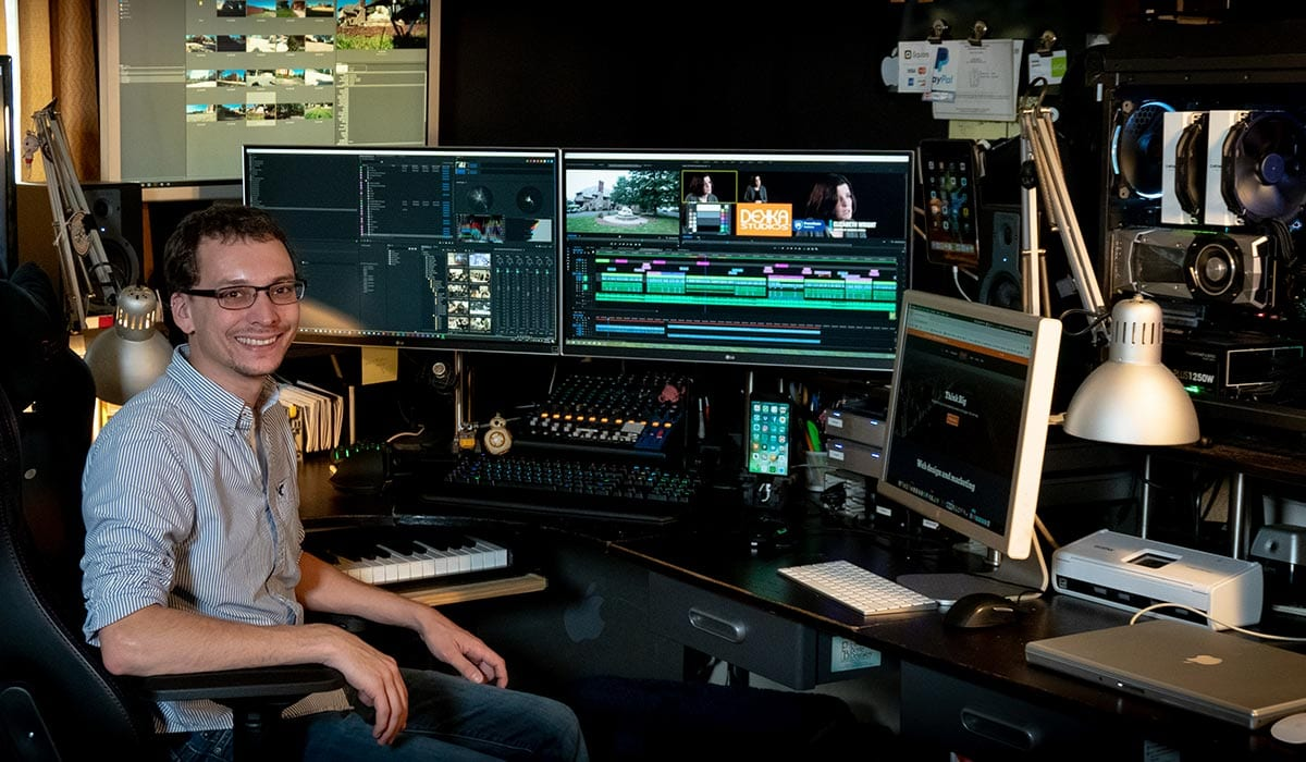 Lehigh Valley video production company editor Blaise Arlotto of Dekka Studios serves clients in the Lehigh Valley, Allentown, Hazleton, Jim Thorpe and throughout New York and New Jersey.