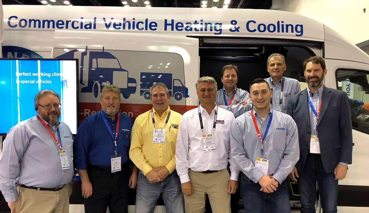 Cicioni Commercial Vehicle HVAC with the Webasto team at the NTEA: Work Truck Show in Indianapolis.