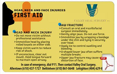 Print, fold and keep this first aid card